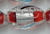 CLG858 15.5 inches 16*28mm rice lampwork glass beads wholesale