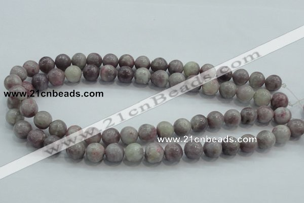 CLI54 15.5 inches 12mm round natural lilac jasper beads wholesale