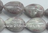 CLI60 15.5 inches 18*25mm teardrop natural lilac jasper beads wholesale