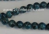 CLJ223 15.5 inches 8mm round dyed sesame jasper beads wholesale