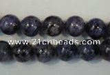 CLJ233 15.5 inches 10mm round dyed sesame jasper beads wholesale