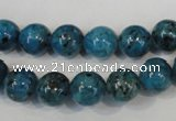 CLJ235 15.5 inches 10mm round dyed sesame jasper beads wholesale