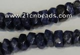 CLJ249 15.5 inches 6*11mm faceted nuggets dyed sesame jasper beads