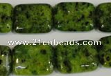 CLJ290 15.5 inches 15*20mm rectangle dyed sesame jasper beads wholesale