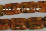 CLJ291 15.5 inches 15*20mm rectangle dyed sesame jasper beads wholesale