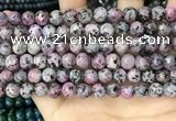 CLJ505 15.5 inches 4mm,6mm,8mm,10mm & 12mm round sesame jasper beads