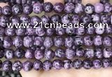 CLJ513 15.5 inches 4mm,6mm,8mm,10mm & 12mm round sesame jasper beads