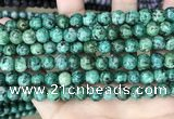 CLJ527 15.5 inches 4mm,6mm,8mm,10mm & 12mm round sesame jasper beads
