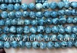 CLJ558 15.5 inches 6mm,8mm,10mm & 12mm faceted round sesame jasper beads