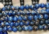 CLJ574 15 inches 10mm faceted round sesame jasper beads