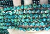 CLJ629 15 inches 8mm faceted nuggets sesame jasper beads
