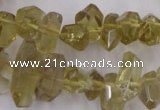 CLQ171 6*8mm – 10*16mm faceted nuggets natural lemon quartz beads