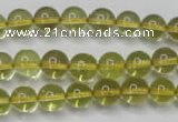CLQ201 15.5 inches 6mm round natural lemon quartz beads wholesale