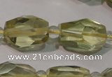 CLQ258 15.5 inches 10*14mm – 12*16mm faceted nuggets lemon quartz beads