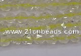 CLQ311 15.5 inches 6mm faceted nuggets lemon quartz beads