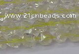 CLQ312 15.5 inches 8mm faceted nuggets lemon quartz beads