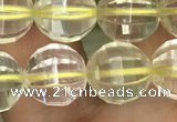 CLQ323 15.5 inches 10mm faceted round natural lemon quartz beads