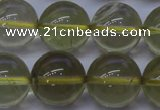 CLQ354 15 inches 12mm round natural lemon quartz beads wholesale