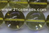 CLQ356 15 inches 16mm round natural lemon quartz beads wholesale