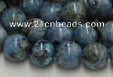 CLR05 16 inches 14mm round larimar gemstone beads wholesale