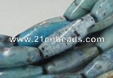 CLR08 16 inches 10*30mm rice larimar gemstone beads wholesale
