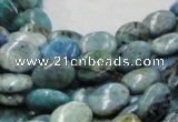 CLR10 16 inches 10*14mm oval larimar gemstone beads wholesale
