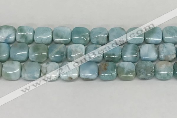 CLR131 15.5 inches 10*10mm square natural larimar gemstone beads
