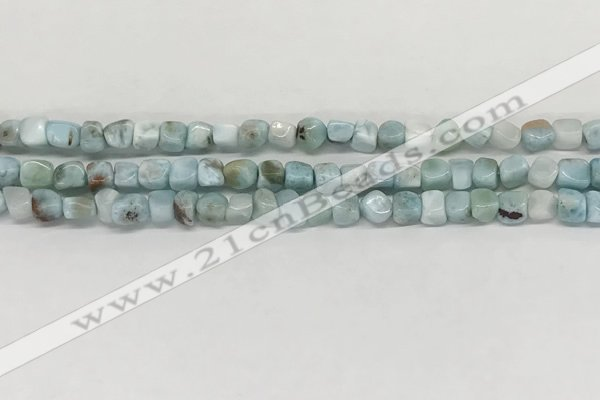 CLR133 15.5 inches 4*6mm - 5*8mm chips natural larimar gemstone beads