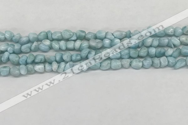 CLR134 15.5 inches 3*4mm - 4*6mm chips natural larimar gemstone beads