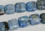 CLR218 15.5 inches 12*12mm square larimar gemstone beads