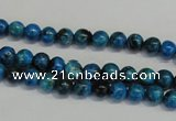 CLR300 15.5 inches 4mm round dyed larimar gemstone beads