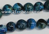 CLR304 15.5 inches 12mm round dyed larimar gemstone beads