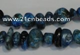 CLR315 15.5 inches 6*12mm nuggets dyed larimar gemstone beads