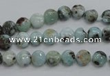 CLR34 15.5 inches 7mm flat round natural larimar gemstone beads