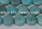 CLR361 15.5 inches 12mm flat round dyed larimar gemstone beads