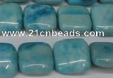 CLR381 15.5 inches 12*12mm square dyed larimar gemstone beads