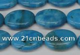 CLR422 15.5 inches 12*16mm oval dyed larimar gemstone beads