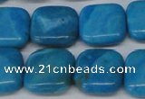 CLR432 15.5 inches 14*14mm square dyed larimar gemstone beads