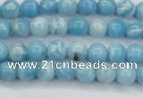 CLR600 15.5 inches 4mm round imitation larimar beads wholesale