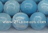 CLR606 15.5 inches 16mm round imitation larimar beads wholesale