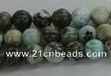 CLR61 15.5 inches 6mm round natural larimar gemstone beads