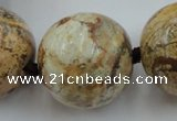 CLS50 15.5 inches 30mm round large picture jasper beads
