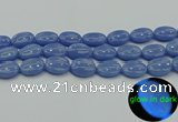 CLU184 15.5 inches 15*20mm oval blue luminous stone beads