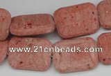 CLV300 15.5 inches 15*20mm rectangle lava beads wholesale