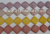CLV309 15.5 inches 25*25mm diamond lava beads wholesale
