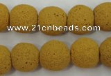 CLV373 15.5 inches 16mm ball dyed lava beads wholesale