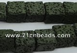 CLV391 15.5 inches 12*13*15mm cuboid dyed lava beads wholesale