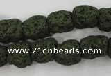 CLV395 15.5 inches 13*13mm nuggets dyed lava beads wholesale