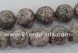 CMB06 15.5 inches 14mm round natural medical stone beads wholesale