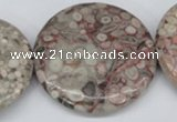 CMB15 15.5 inches 40mm flat round natural medical stone beads